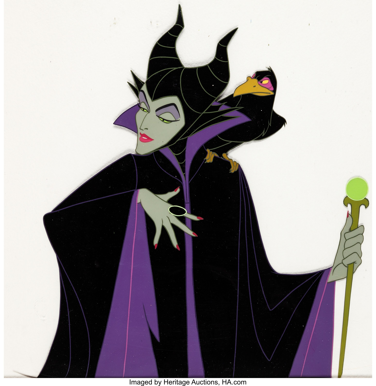 Sleeping Beauty Maleficent And Diablo Production Cel Walt