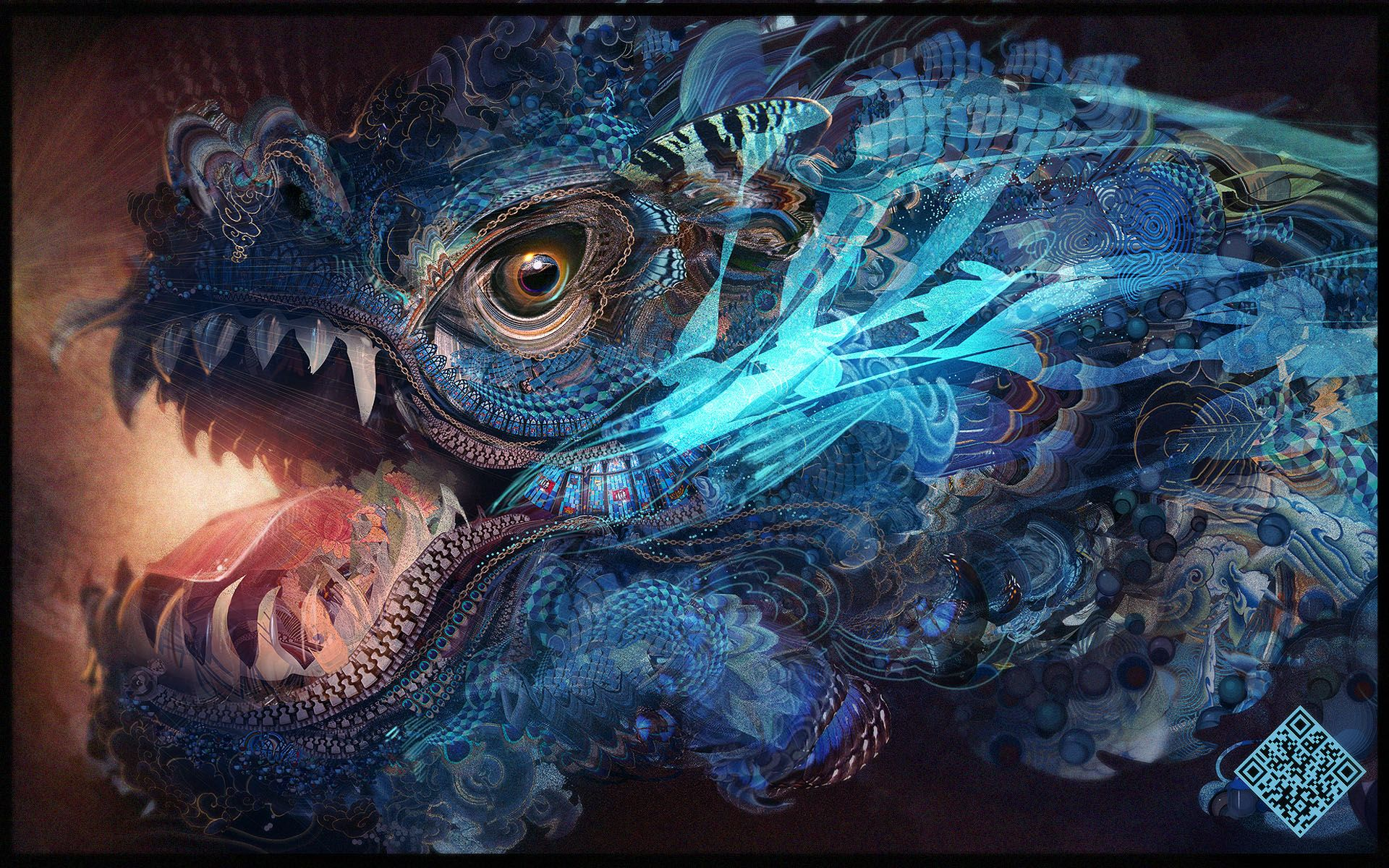 water dragon by android jones