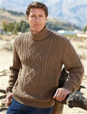 pull col roul irlandais homme mode masculine pinterest