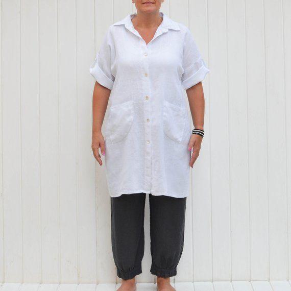 6e04c5db0aa Linen Shirt Dress