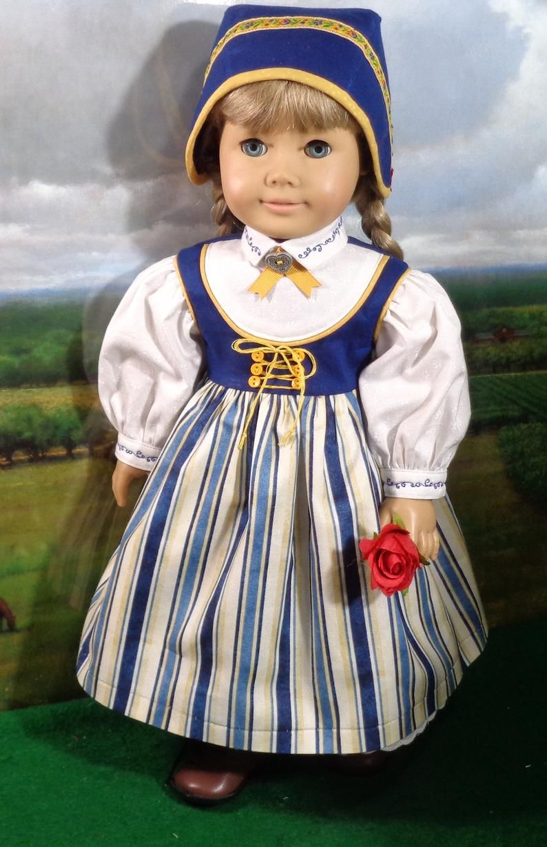 RESERVED Nordic Style Dress and Cap  fits 18 Inch Dolls image 5 #18inchdollsandclothes