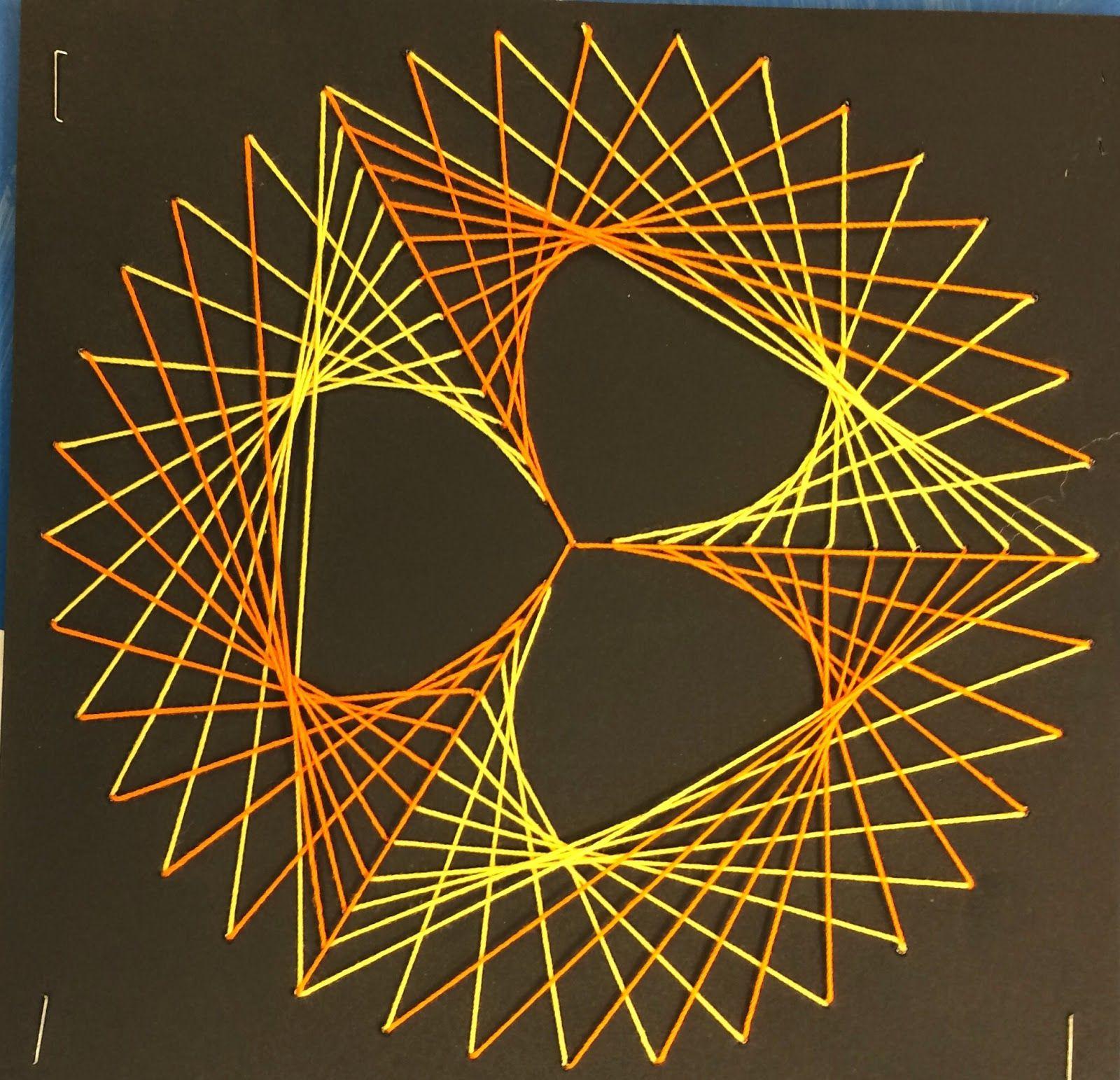 Art. Paper. Scissors. Glue!: Mathematic String Art