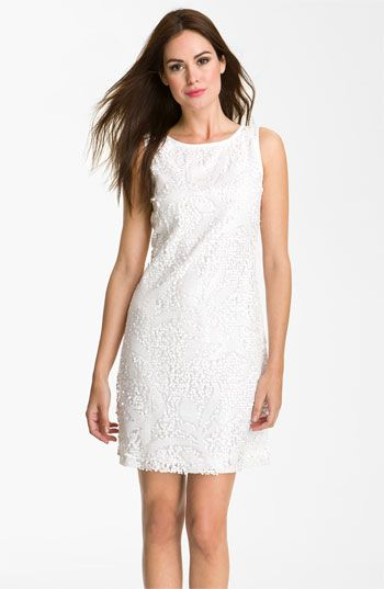 Donna Ricco Womens Sleeveless Lace and Sequin Dress
