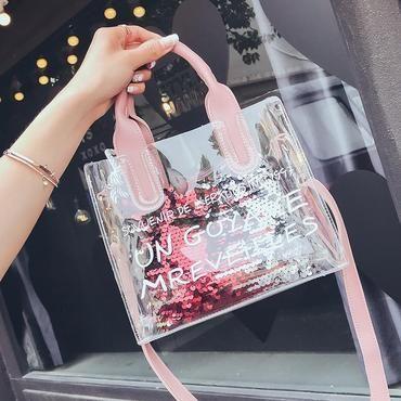 0584c7e6f318 Women s Designer Handbag 2018 Fashion New Female bag High quality PVC  Transparent Women bag Portable Shoulder bag Big Tote bag