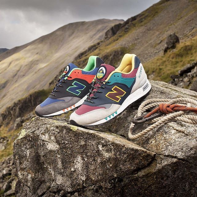 After a 6 hour hike with a photographer and full camera gear we got this shot.  Inspired by the Napes Needle rock formation - a challenging climb to conquer for even the most experienced climbers. Shown here the Made in UK 577 just below the Napes Needle in Cumbria UK as it became impossible and too dangerous to get the needle in the shot. by newbalance