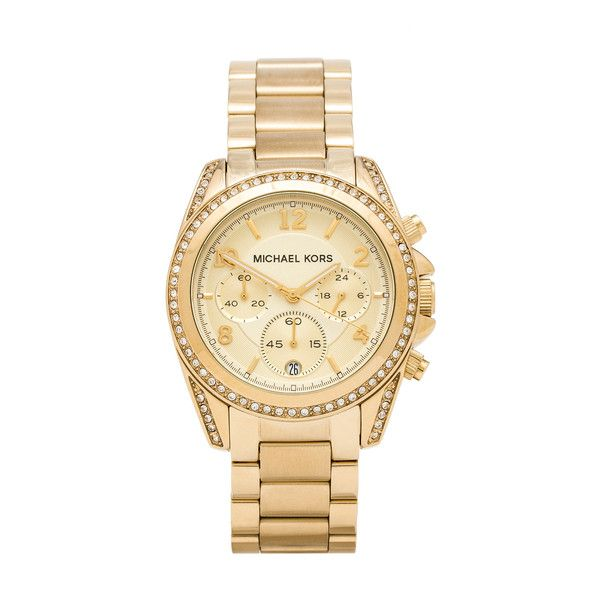 028109050399 Michael Kors Blair Watch ( 250) ❤ liked on Polyvore featuring jewelry