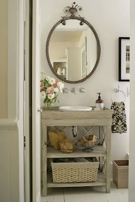 Bathroom Shabby Chic Bathroom Diy Bathroom Vanity Cottage Bathroom