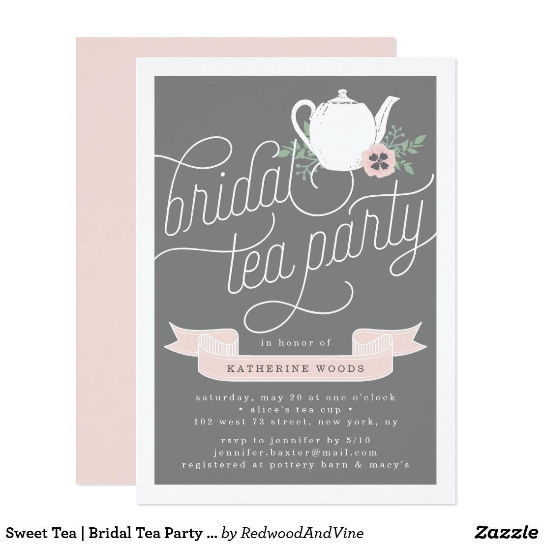 Sweet Tea | Bridal Tea Party Invitation | Bridal Shower | Pinterest ...