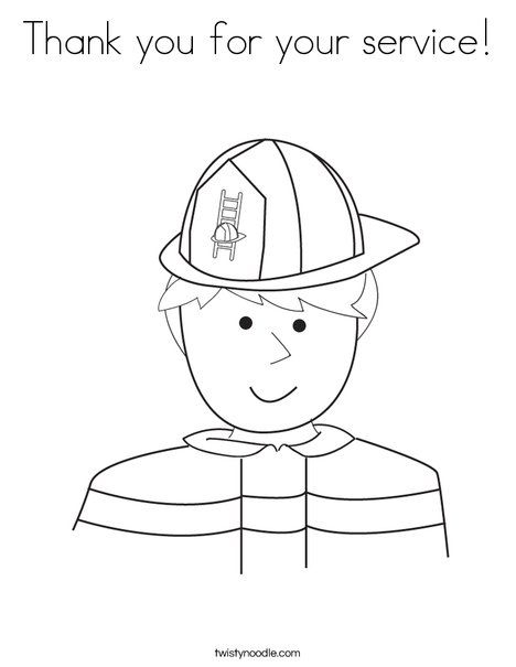 Thank You For Your Service Coloring Page Firefighter Coloring Pages Owl Coloring Pages