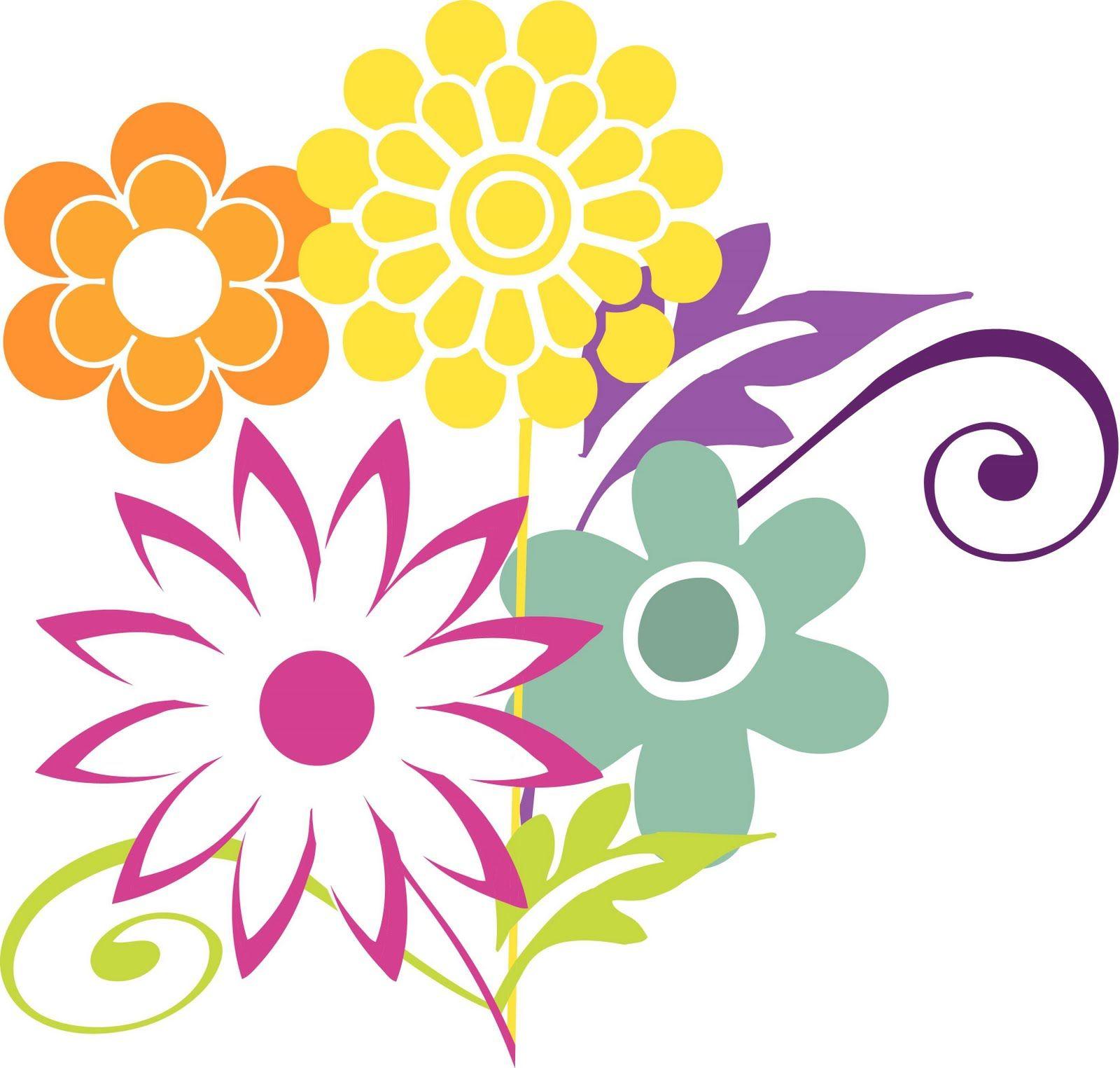 free clipart april flowers clipart best [ 1600 x 1525 Pixel ]