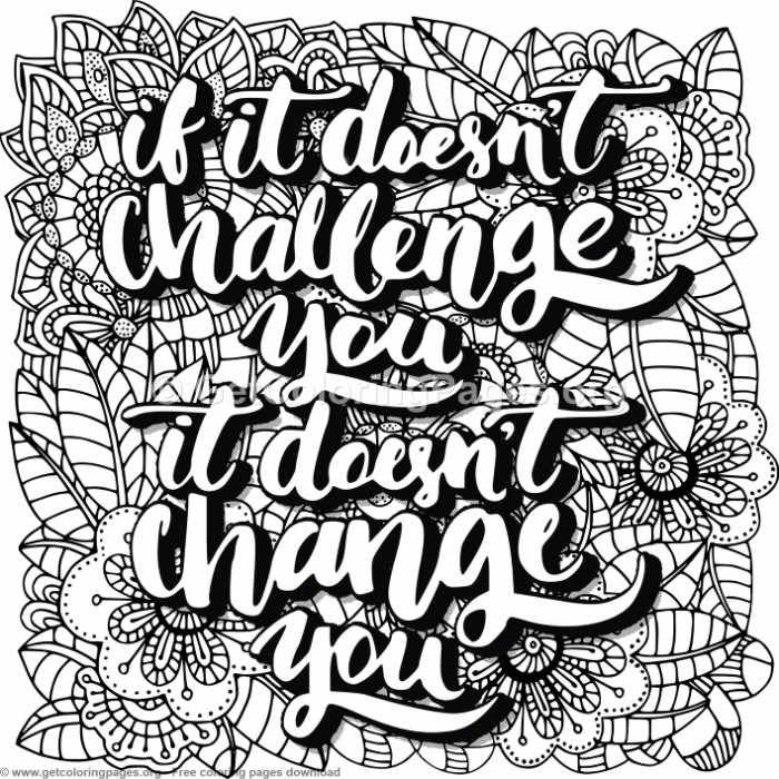 If It Doesn't Challenge You Coloring Pages – GetColoringPages.org #coloring ...