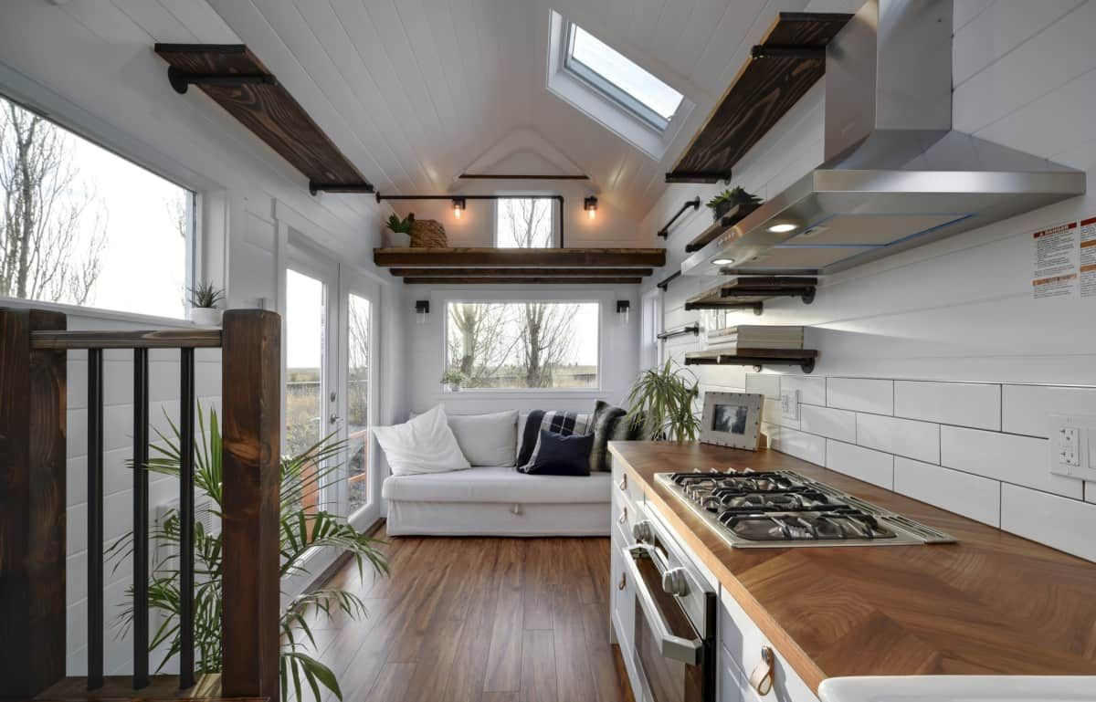 26ft Tiny Home Cozy And Bright Tiny House For Rent In Delta