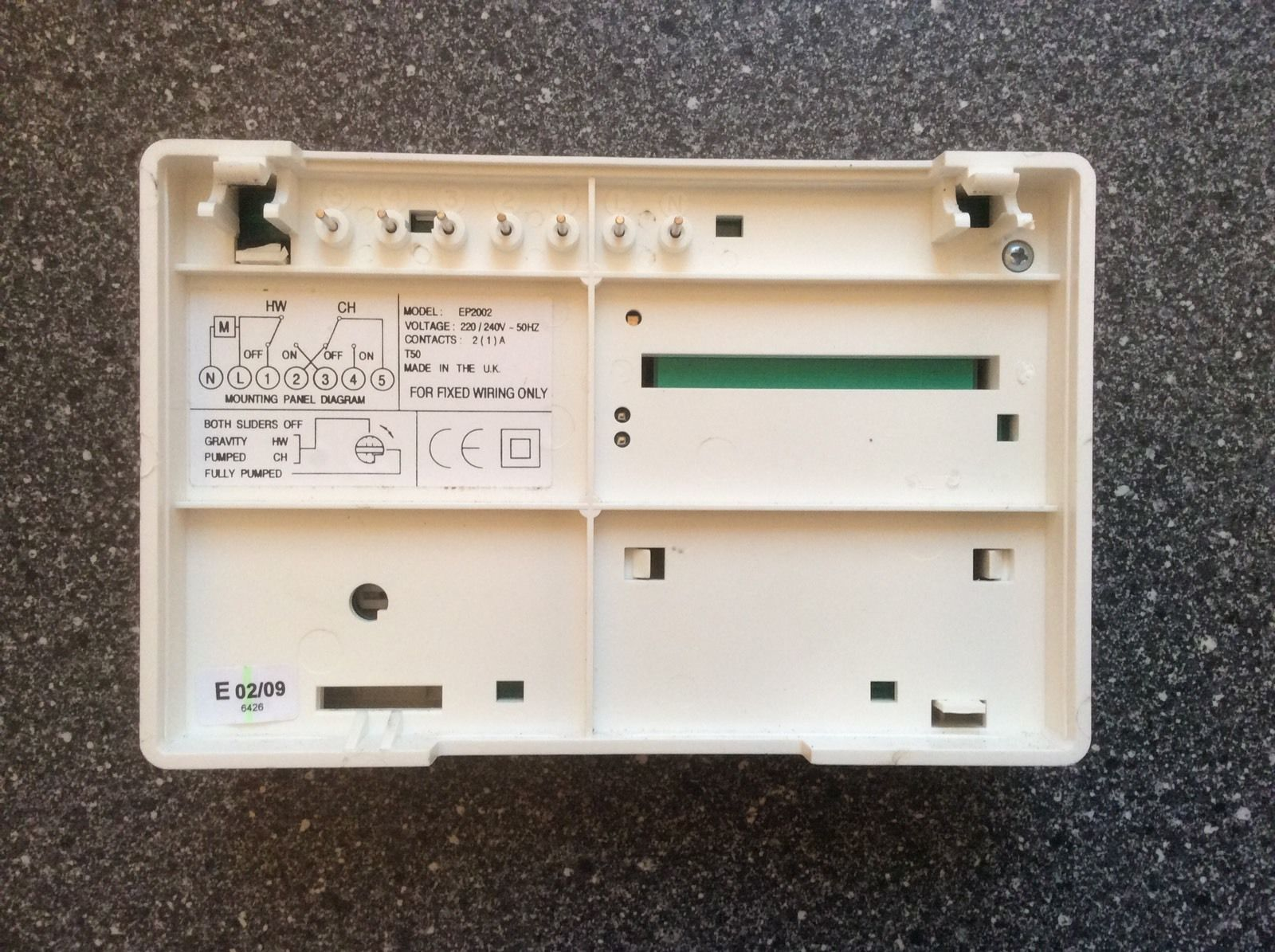 a5dfed3df72ec63d44f1b7eea08af6b1 potterton ep2002 central heating duel programmer, white ebay potterton ep2002 wiring diagram at crackthecode.co