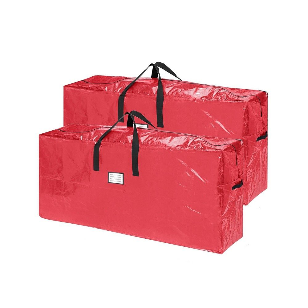 Extra Large 2pk Christmas Tree Bag For Up To 9 Ft Tree Red