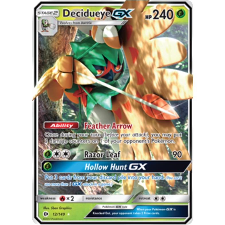 Ultra Rare NM Pokemon Sun /& Moon Base Set 12//149 1x Decidueye GX