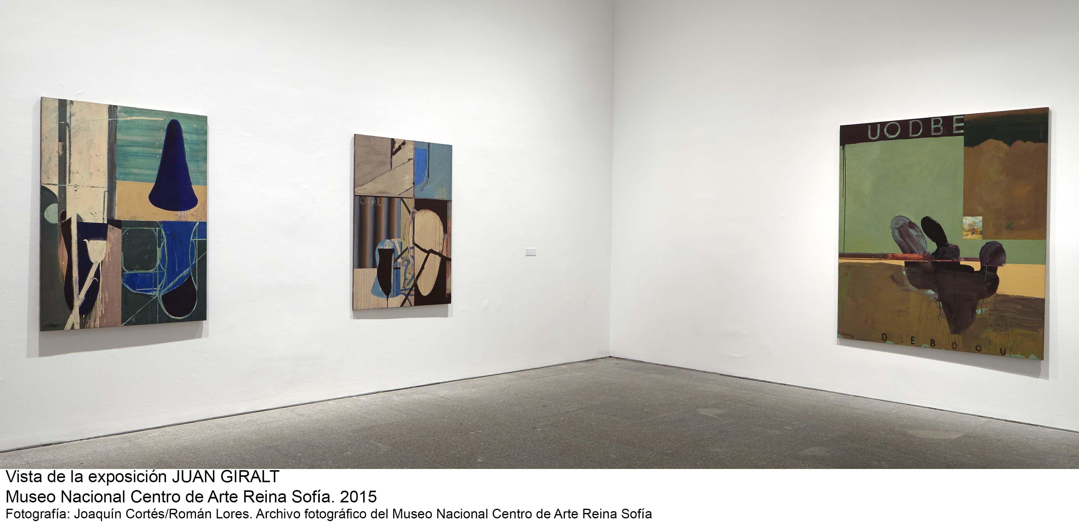 Imagen de sala de la exposición de Juan Giralt