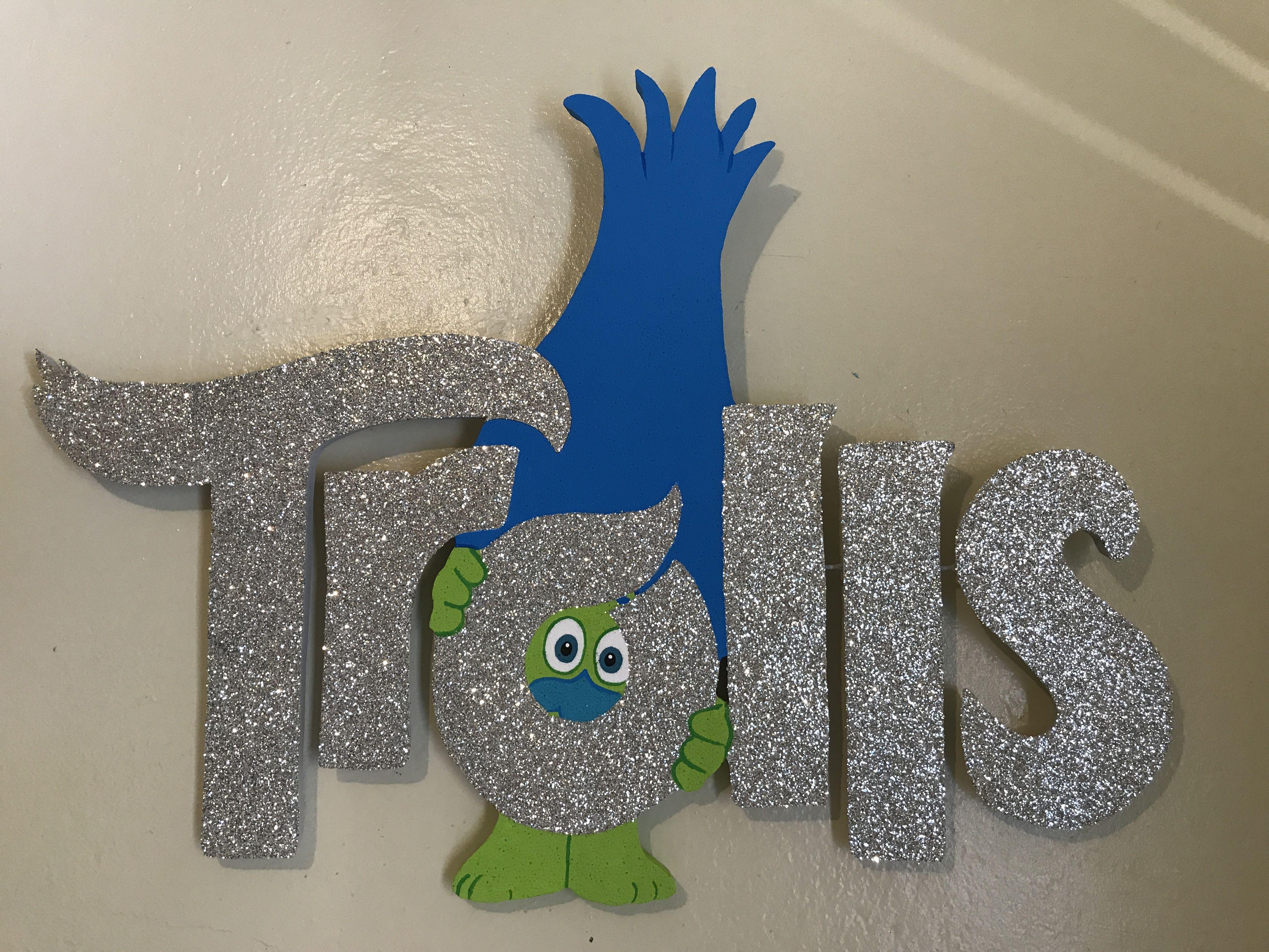 Trolls Logo In Foam Trolls Birthday Party 2nd Birthday Party Themes Trolls Birthday