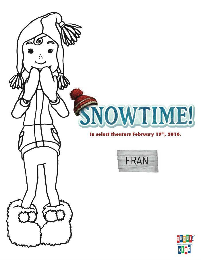 Free Snowtime Printable Fran Coloring Page Printable Coloring