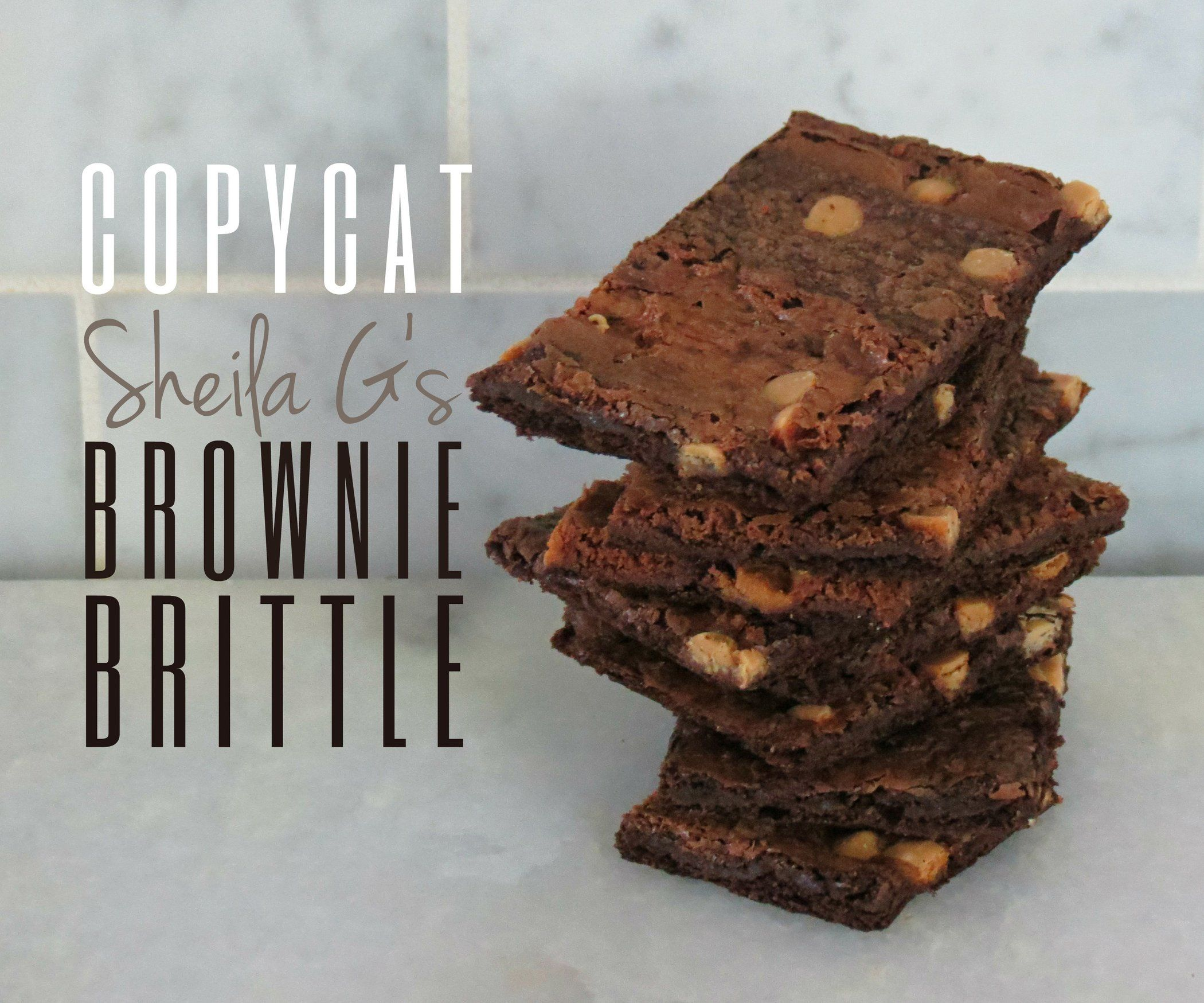 Photo of Copycat Sheila G's Brownie Brittle