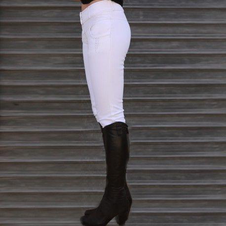 Pantalon de concours équitation Alexandra Ledermann Sportswear : Sculptur-AL Blanc