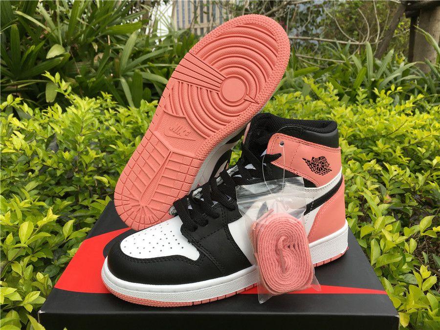 "73e6c634201a6f 2018 Girls Air Jordan Shoes Air Jordan 1 Retro High OG GS ""Rust Pink ..."