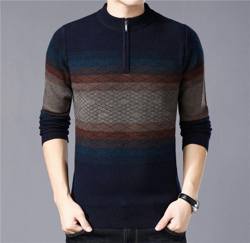 New Mens Cashmere Sweatshirt Turtleneck T-Shirt Jumper Pullover Knitwear Sweater