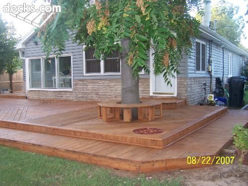 Low Elevation Deck Picture Gallery Deck around trees