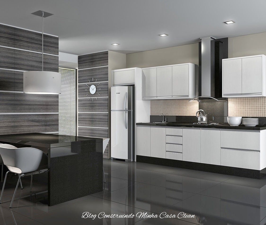 Cozinhas modernas com cinza pequenas e grandes for Cocinas modernas apartamentos