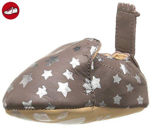 Easy Peasy Unisex Baby Krabbelschuhe Krabbel- & Hausschuhe BLUMOO Nuit, Mehrfarbig (Ecorce/Argent), 6-12 Monate