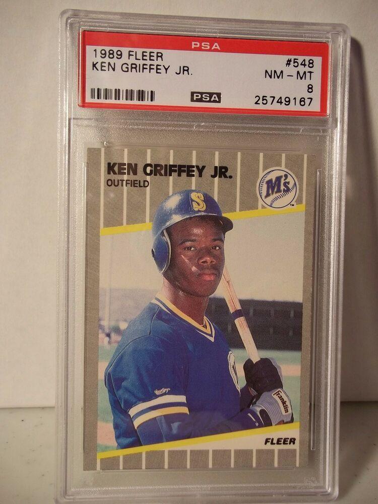 1989 Fleer Ken Griffey Jr RC PSA NMMT 8 Baseball Card