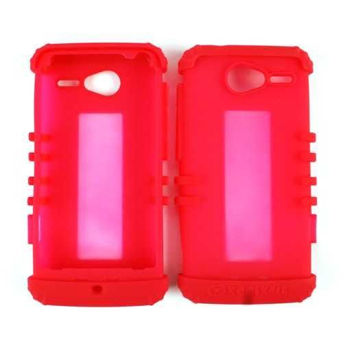 Unlimited Cellular Rocker Skin Protector Case for Motorola XT901 / Electrify M (Fluorescent Red)