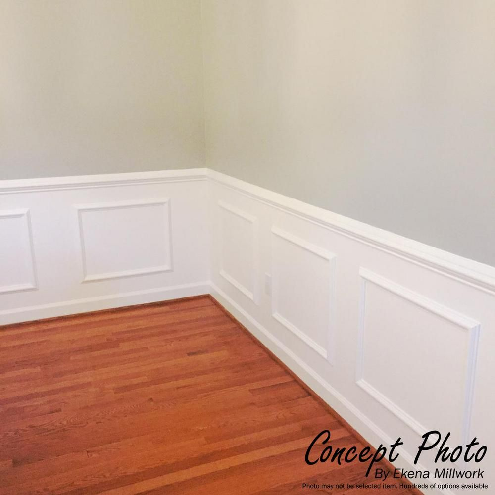 Ekena Millwork 16 In W X 20 In H X 1 2 In P Ashford Molded Classic Wainscot Wall Panel Pnl16x20as 0 In 2020 Wainscoting Wall Wall Paneling Wainscoting Wall Paneling