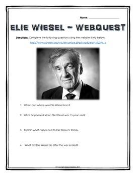 elie wiesel short biography