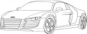 How To Draw An Audi R8 Step 5 Hand Drawn Cars Drawings Cars