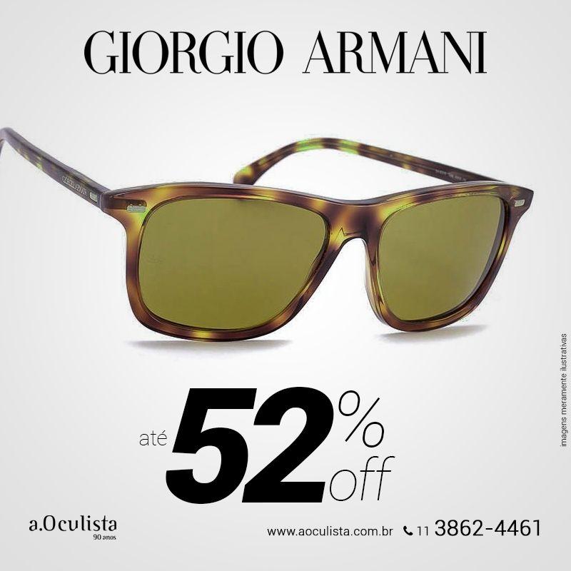 Óculos de Sol Armani com 52% de desconto. Aproveite! Compre em Até 10x Sem Juros e frete grátis, acesse https://goo.gl/9LfStT #aoculista #armani #glasses #sunglasses #eyeglasses #oculos
