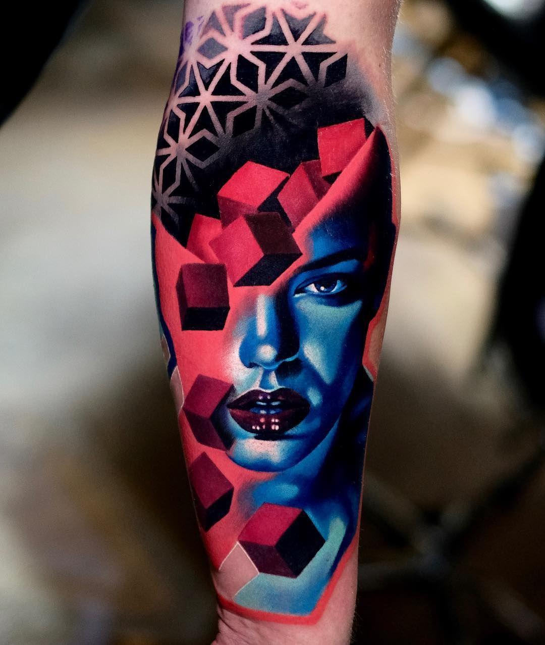 Tattoo Artist Volkan Demirci Colored Tattoo Design Tattoo Artists Surreal Tattoo
