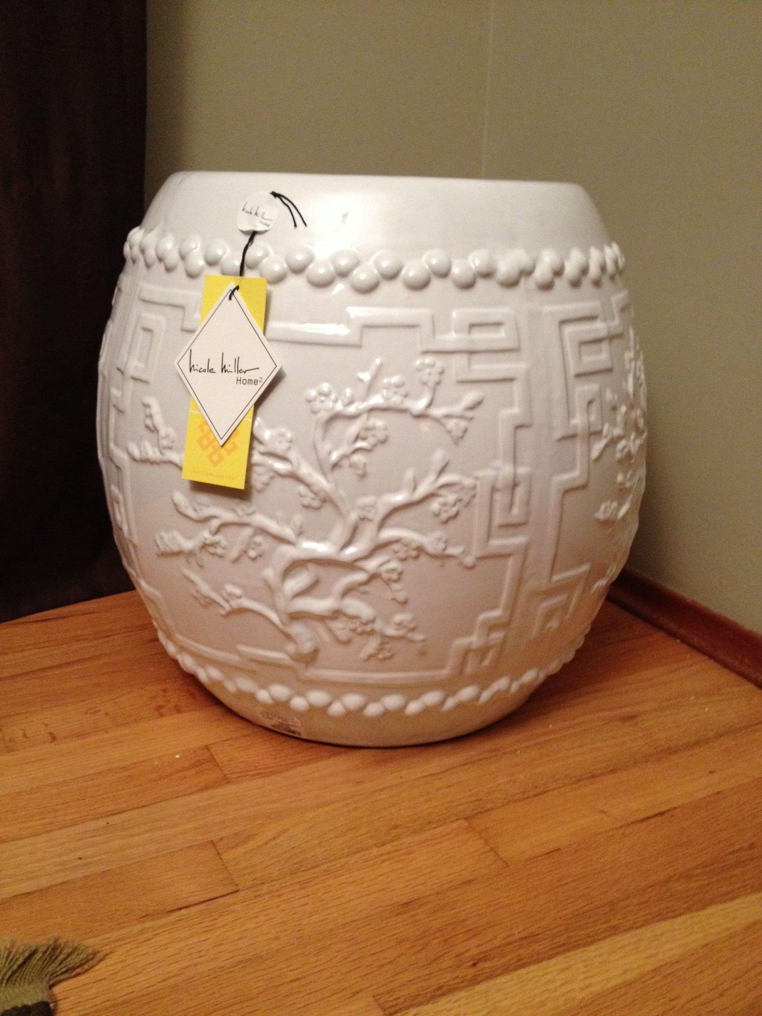 Large White Nicole Miller Cherry Blossom Garden Stool Homesense With Images Garden Stool Blossom Garden Decor