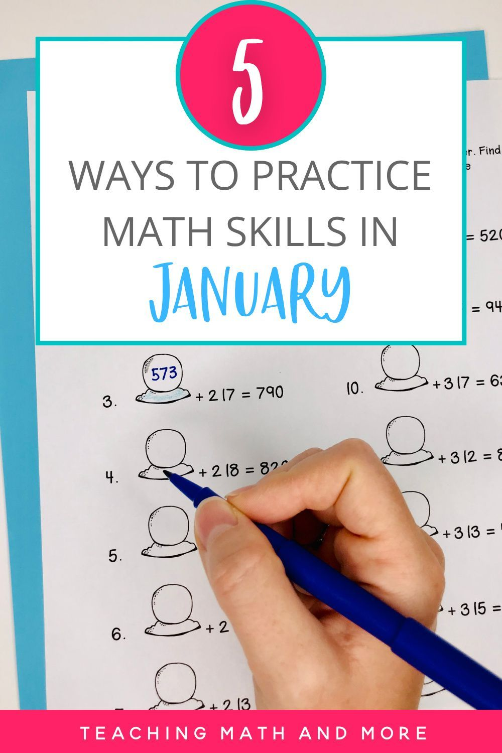 January Math Resources In 2021 Middle School Math Worksheets Math Activities Elementary Teaching Math Elementary [ 1500 x 1000 Pixel ]