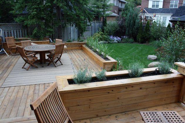 Planter Boxes Backyard Makeover Pinterest Gardens