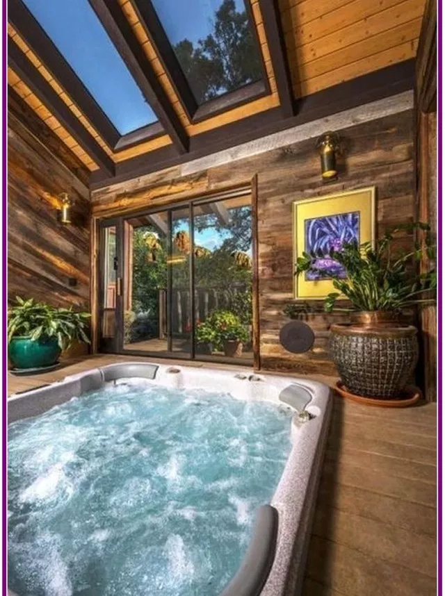 25 Awesome Inground Hot Tub Ideas That Will Drop Your Jaw Josh Hutcherson Small Indoor Pool Indoor Hot Tub Indoor Pool Design