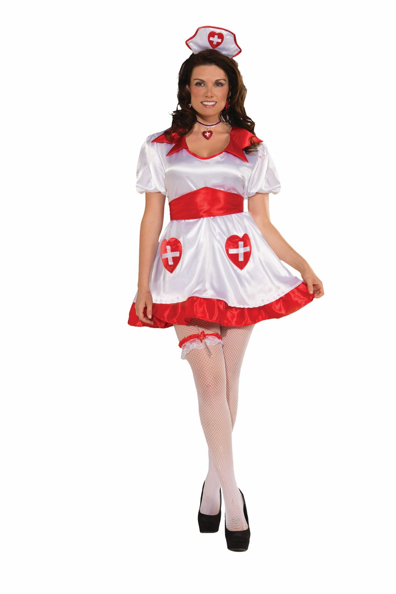 Sexy Nurse Honey Have A Heart Costume Dress Adult Plus | Sexy ...