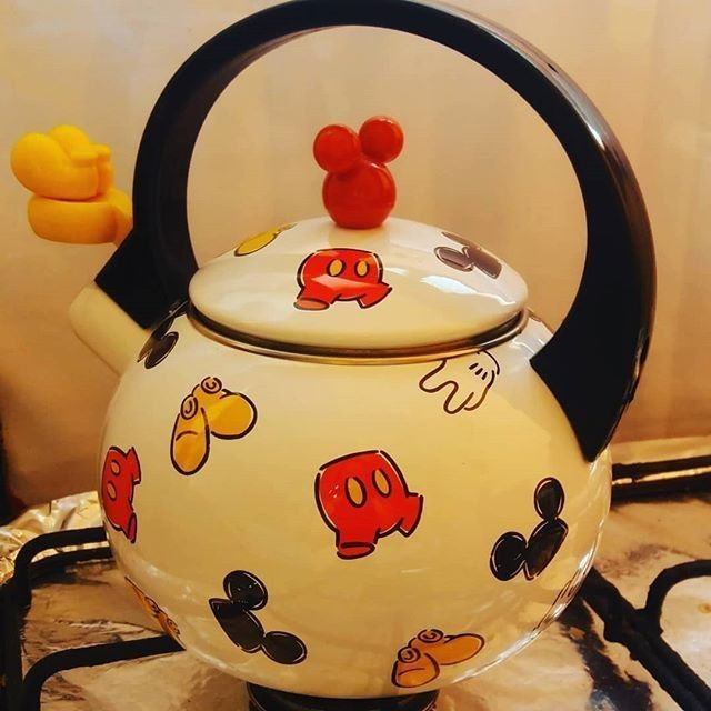 Pin By Poppet Madson On Teapots Coffee Pots Kettles And More Mickey Mouse Kitchen Disney Decor Disney Kitchen Decor