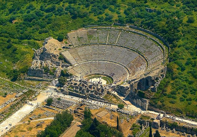 Ancient Greek theater in Ephesus, Turkey