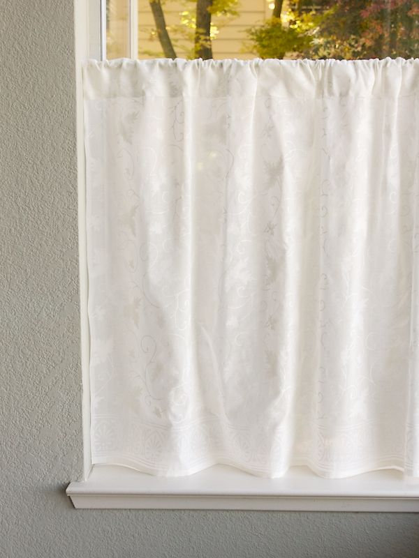 Charming White Country Cottage Cotton KITCHEN CURTAIN:Bring A Fresh Twist On A  Classic To Your