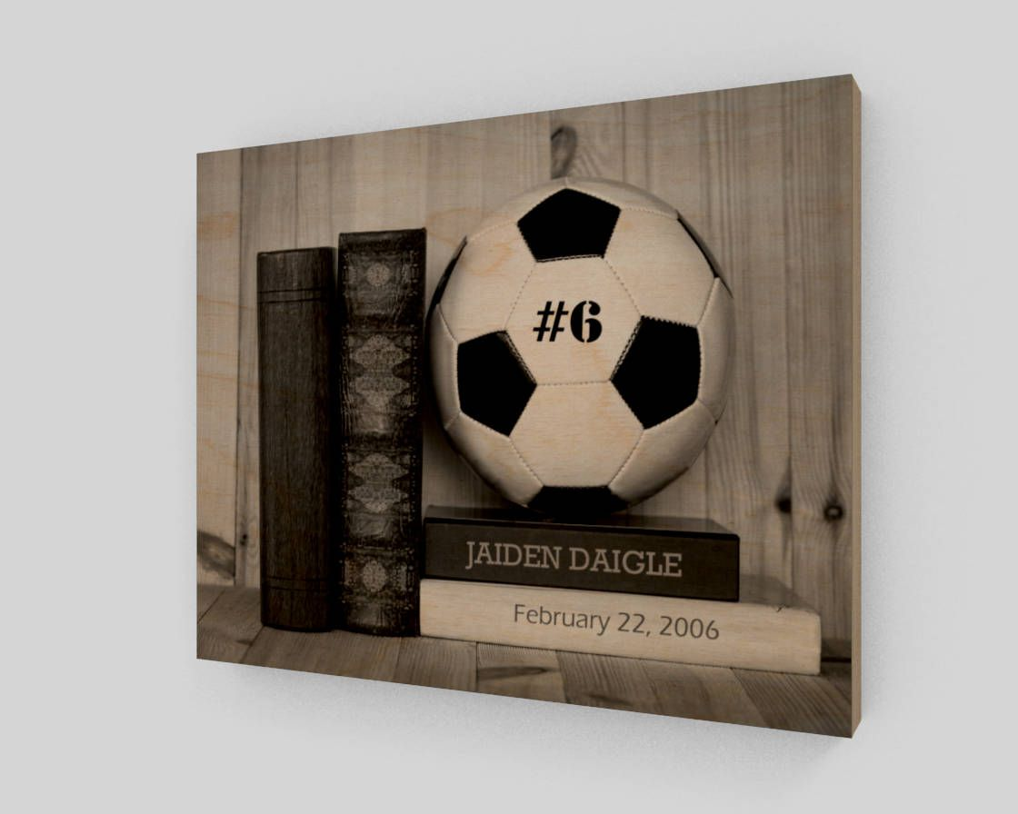 soccer wood sign personalized soccer wall art soccer gifts
