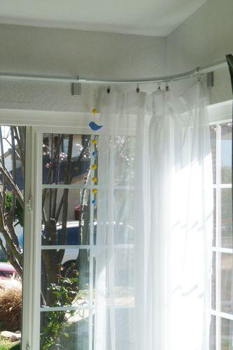 Anno Amorf Kvartal Curtain Panels Hung: Ikea KVARTAL Corner Curtain Rail