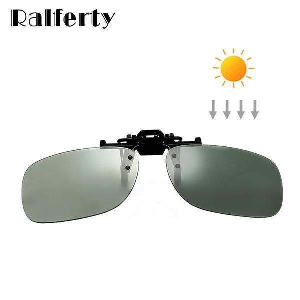 c8e3e056121 Ralferty Clip On Sunglasses Men Polarized Photochromic Square Flip Up  Glasses Women Night Vision X203  Discounts  BestPrice
