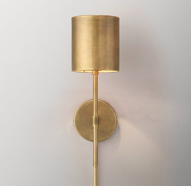 Photo of Landon wall lamp – antique brass