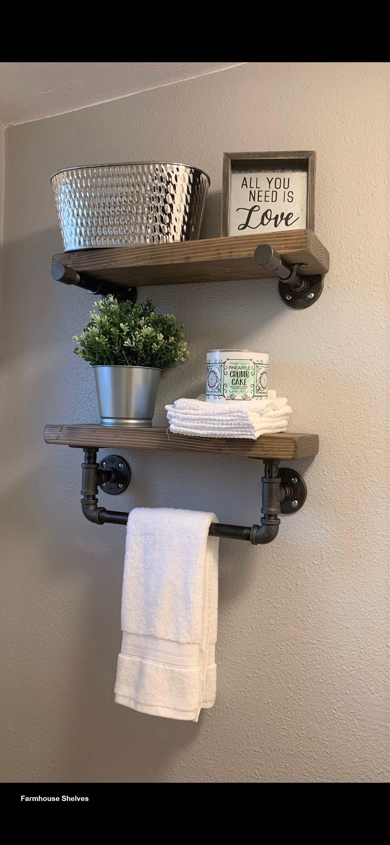DIY Farmhouse Shelves Ideas in 2020 Farmhouse shelves