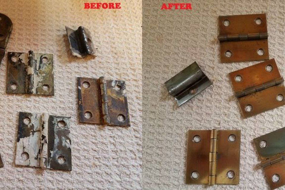 How to clean old metal fixtures carpet cleaning business